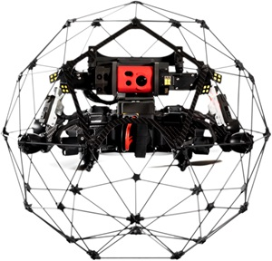 Drone with rolling cage used for internal inspection