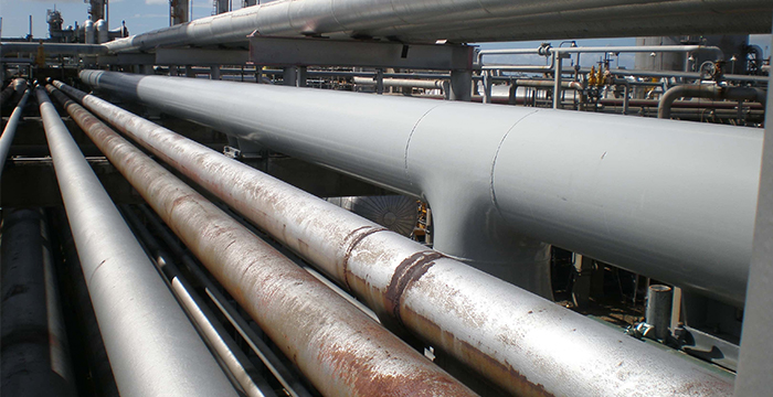 External industrial piping