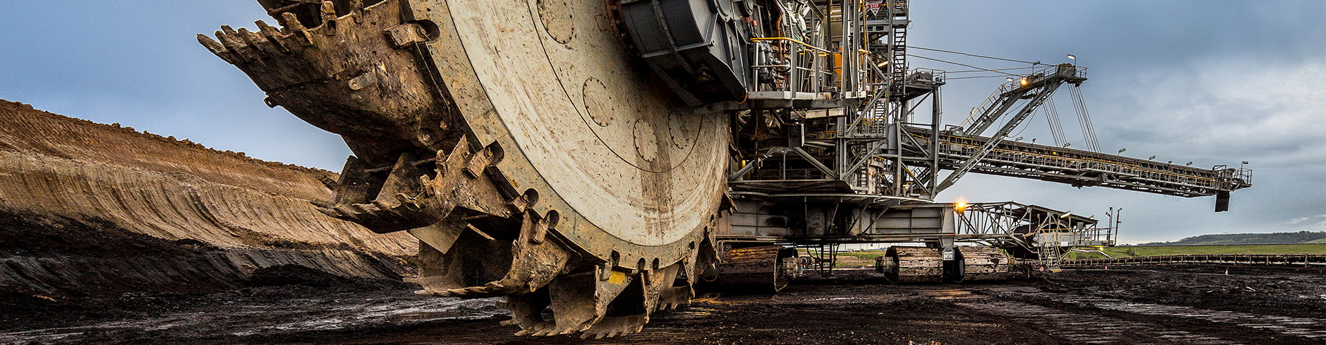 Bucket wheel excavator at an open cut coal mine