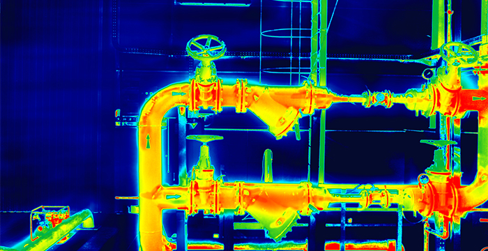 Industrial thermography pipe