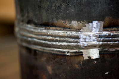 Close-up of Butt Joint weld